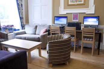 YHA Penzance : Lounge Area in Penzance Hostel, England