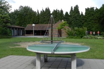 Maldegem - Die Loyale : Exterior View, Garden and Games Area at Maldegem - Die Loyale Hostel, Belgium
