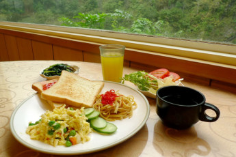 Tienhsiang Youth Activity Center : Food in Tienhsiang Youth Activity Center Hostel, Taiwan
