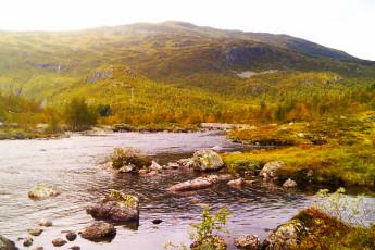 Mjølfjell : Countryside around Mjolfjell hostel in Norway