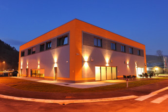 Youth Hostel Slovenj Gradec : Exterior View of Slovenj Gradec Hostel, Slovenia at Night