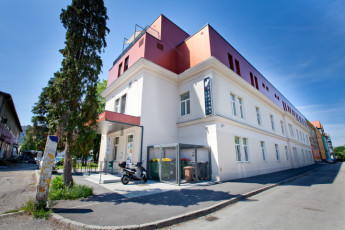 Youth Hostel Pekarna : Front Exterior View of Maribor - Youth Hostel Pekarna, Slovenia