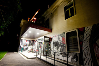Youth Hostel Pekarna : Front Exterior View of Maribor - Youth Hostel Pekarna, Slovenia at Night