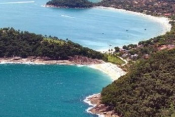 Ubatuba - Tribo Hostel : Beach near the Ubatuba - Tribo Hostel in Brazil