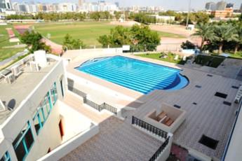 Dubai - A : Pool Area in Dubai - A Hostel, United Arab Emirates