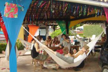 Olinda – Olinda Hostel : Guests on terrace at the Olinda - Olinda hostel in Brazil