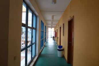 Faro : Corridor of Male Rooms in Faro Hostel, Portugal