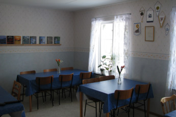 Ljungby/Södra Ljunga : Dining room in the Ljungby/Sodra Ljunga hostel in Sweden