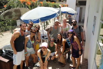 Sayulita - The Amazing Hostel Sayulita : Guests on the Patio at Sayulita - The Amazing Hostel Sayulita, Mexico
