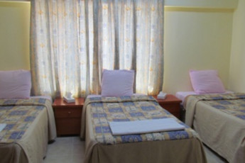 Fujairah Hostel : Triple room in the Fujairah Hostel in the United Arab Emirates