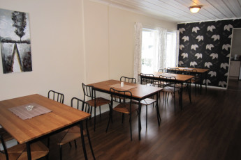 Froland : Dining room in Froland hostel in Norway