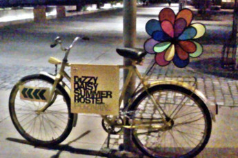 Wroclaw - Dizzy Daisy Hostel : Bike advertising Wroclaw Dizzy Daisy Hostel in Poland