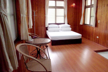 Chengching Lake Youth Activity Center : Double Bedroom in Chengching Lake Youth Activity Center Hostel, Taiwan