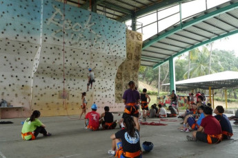 Chengching Lake Youth Activity Center : Rock Climbing at Chengching Lake Youth Activity Center Hostel, Taiwan