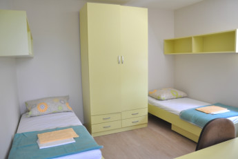 Youth Hostel Novo mesto : Twin Room in Novo Mesto - Youth Hostel Novo Mesto, Slovenia