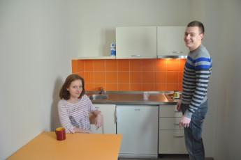 Youth Hostel Novo mesto : Kitchen Area in Novo Mesto - Youth Hostel Novo Mesto, Slovenia