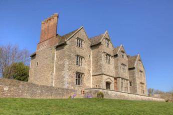 YHA Wilderhope Manor : Exterior view of the YHA Wilderhope Manor Hostel in England