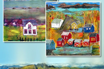 Ballstad : Paintings of Ballstad Hostel, Norway