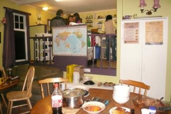 YHA Paraparaumu : Kitchen and Dining Area in Paraparaumu Youth Hostel Association, New Zealand