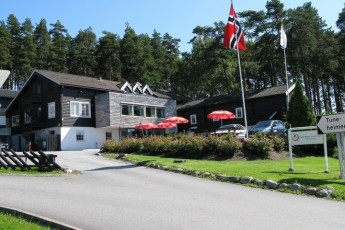 Sarpsborg : Exterior of the Sarpsborg hostel in Norway
