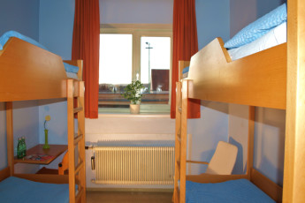 Melk : Four bed dorm in the Melk Abbey hostel in Austria
