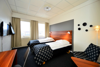 Sandnes : Twin room in the Sandnes hostel in norway