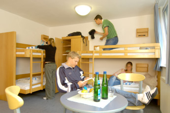Mainz : guests relaxing in the dorm room at Mainz, Germany Hostel