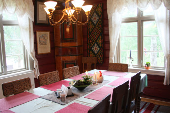 Uvdal : Dining room in the Uvdal hostel in Norway