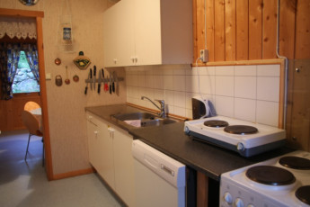 Uvdal : Kitchen in the Uvdal hostel in Norway