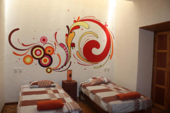 Morelia - Hostel Tequila Sunset : Twin room in the Hostel Tequila Sunset in Mexico