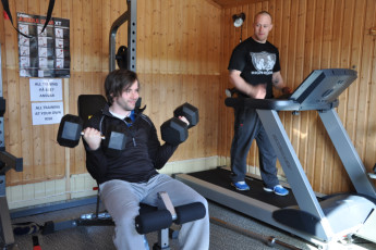 Geilo : Gym in Geilo Hostel, Norway