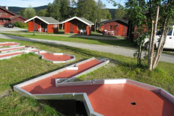 Geilo : Miniature Golf at Geilo Hostel, Norway