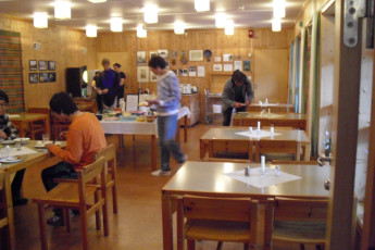 Åndalsnes : Dining Area in Andalsnes Hostel, Norway