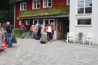 Åndalsnes : Exterior View of Andalsnes Hostel, Norway