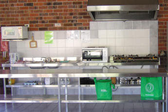 Albury - Wodonga YHA : Kitchen in the Wodonga hostel in Australia