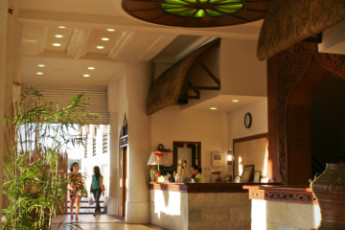 Laoag City - Java Hotel : Reception of the Java Hotel Hostel in the Philippines