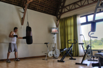 Laoag City - Java Hotel : Gym in the Java Hotel Hostel in the Philippines
