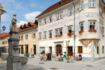 Youth Hostel Radovljica : Exterior of the Youth Hostel Radovljica in Slovenia