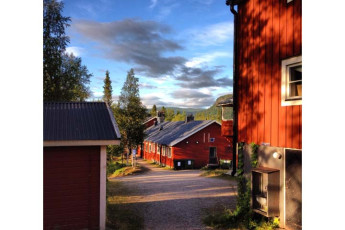 Kvikkjokk Mountain Station : Exterior View of Lappland - Kvikkjokk Mountain Lodge Hostel, Sweden
