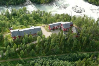 Kvikkjokk Mountain Station : Aerial View of Lappland - Kvikkjokk Mountain Lodge Hostel, Sweden
