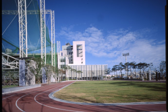 Busan - Busan YH Arpina : Running track at the Busan YH Arpina hostel in South Korea