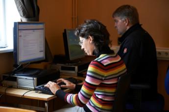 Borgarnes : Computer Area in Borgarnes Hostel, Iceland