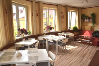 Kraków - Premium Hostel : Dining room in the Krakow Premium Hostel in Poland