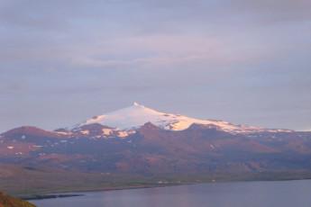 Grundarfjörður : paisaje en Grundarfjorour Hostel, Islandia