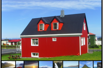 Grundarfjörður : vista exterior y paisaje en Grundarfjorour Hostel, Islandia
