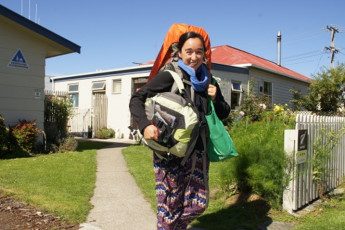 YHA Oamaru : Guest Standing Outside Oamaru Hostel, New Zealand