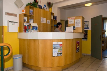 Krems Bicycle Youth Hostel : reception of the Krems Bicycle Youth Hostel in Austria