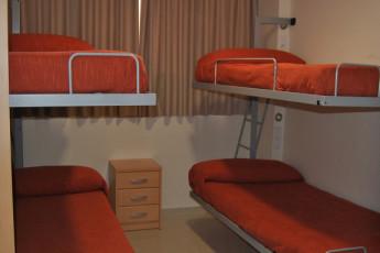 Albergue Inturjoven Jerez de la Frontera : 4-Bett Zimmer in einem Studentenwohnheim in Hostel Herberge Inturjoven Jerez, Spanien