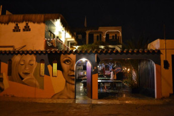 Arica - Doña Inés : Outside View of Arica - Dona Ines, Chile at Night
