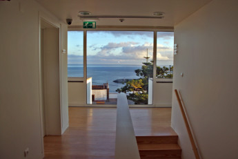 Azores - S.Maria Is. - Vila do Porto : View from the hallway in the Vila do Porto hostel in Portugal
